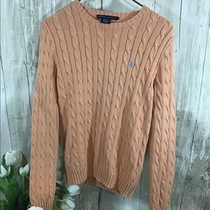 Ralph Lauren | Cable knit Tangerine Sweater | M